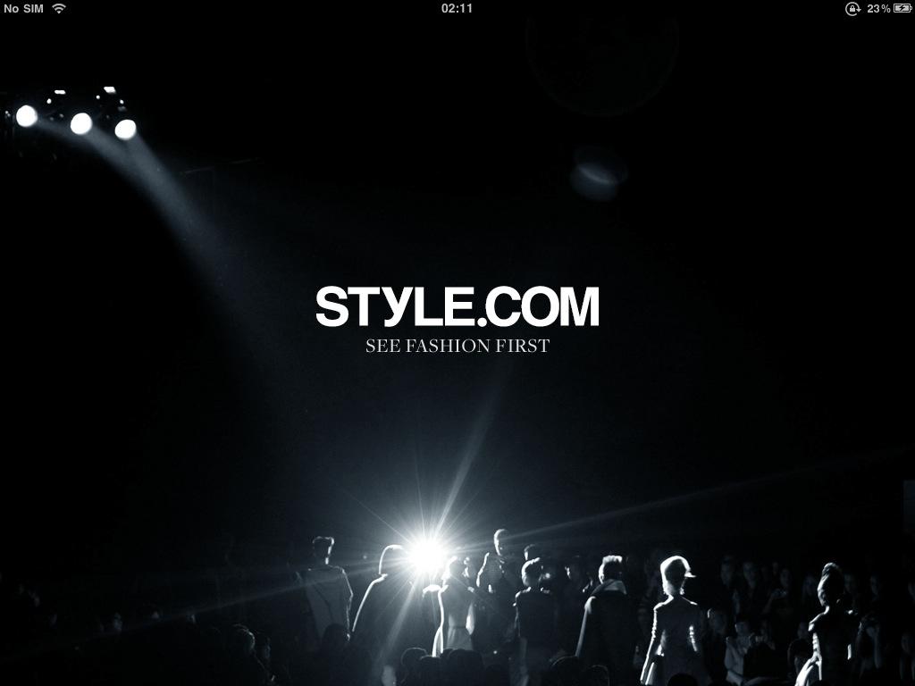 Top iPad Apps Apple iOS Style.com Fashion LFW Week London Milan Paris New York Designers Runway Shows Catwalk