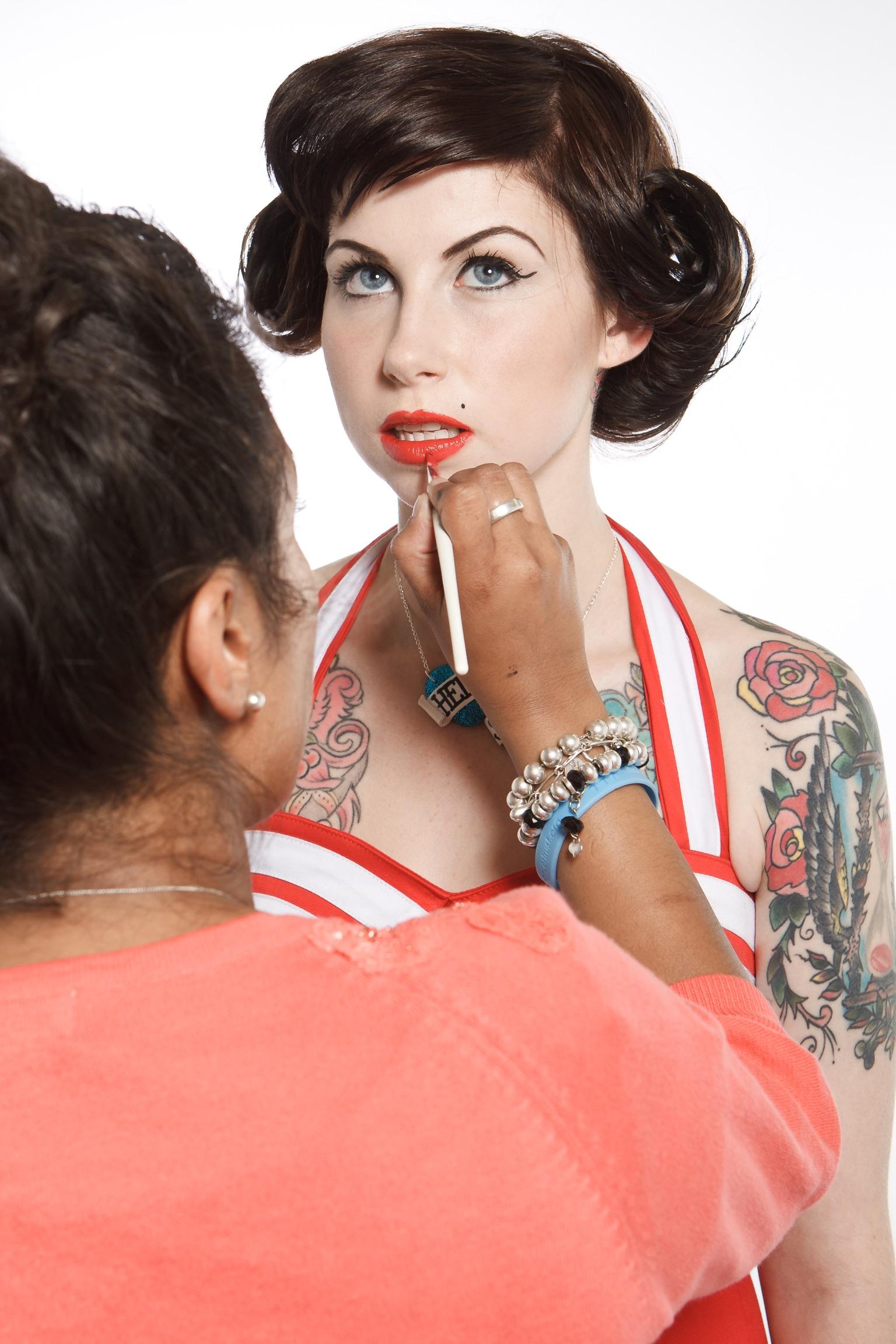 Skin-deep Magazine Hollie Bryant BTS Behind the Scenes Make-up Makeup Tattoos Photoshoot Planning Workflow