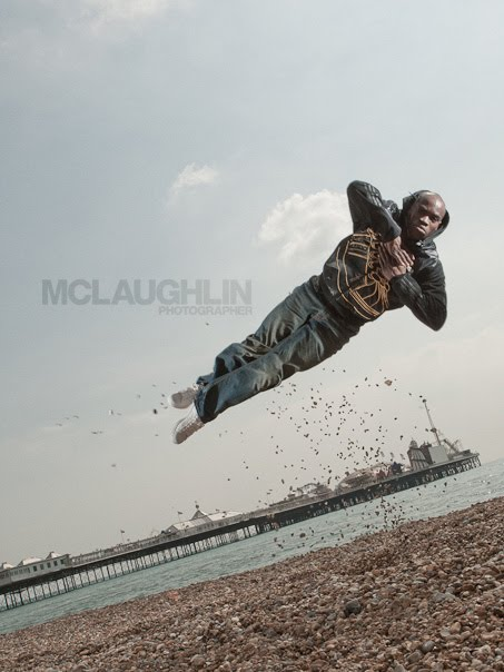 JP Omari Brighton Pier Photography Jumping Breakdancer Breakdance Jump Stones Award Winning Photo Workflow Process Lighting Diagram Strobist Speedlite Pocket Wizard