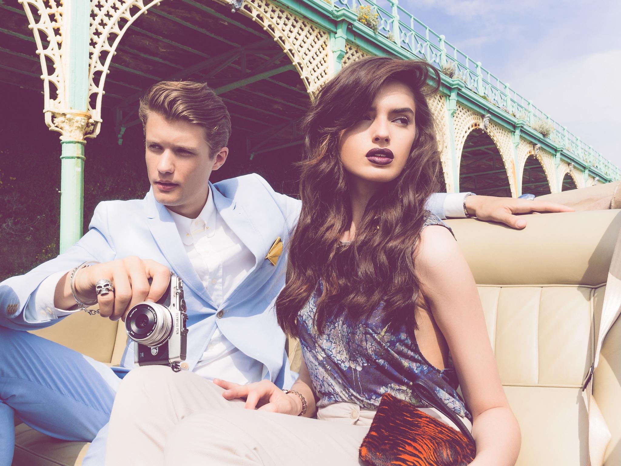 Olympus PEN E-P5 Camera Review Photoshoot Brighton Rolls Royce Fashion Road Trip