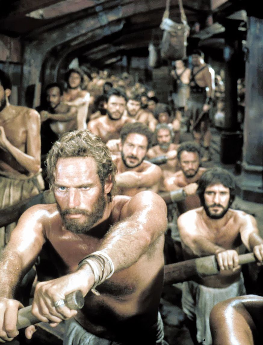 Charlton Heston Ben Hur 1959 Rowing Scene