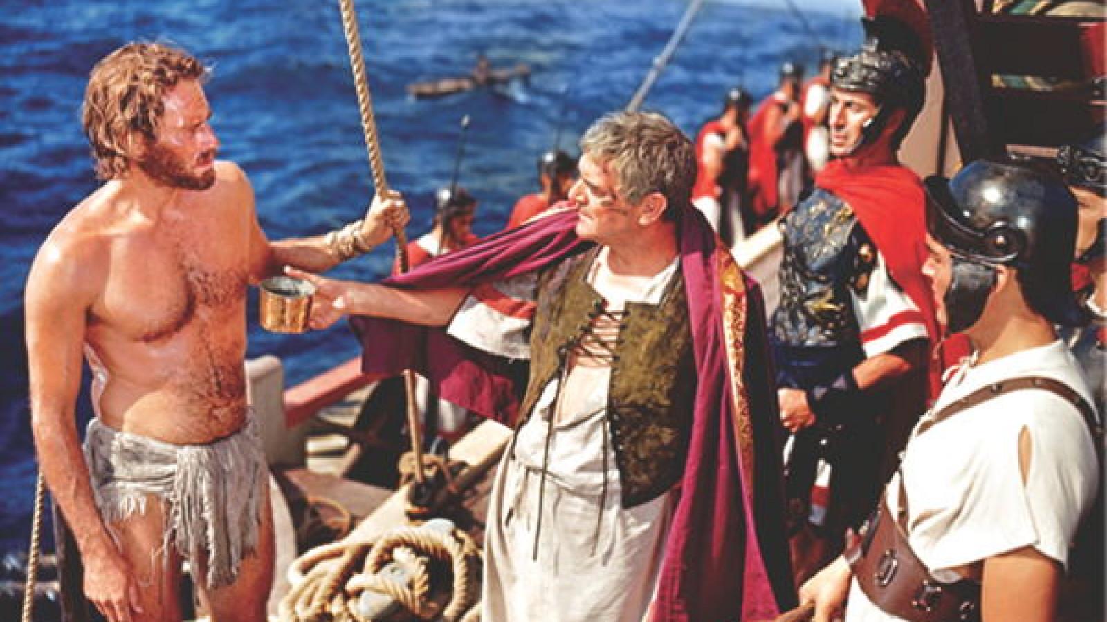 Ben Hur 1959 Charlton Heston shirtless Roman Cosul Rescue