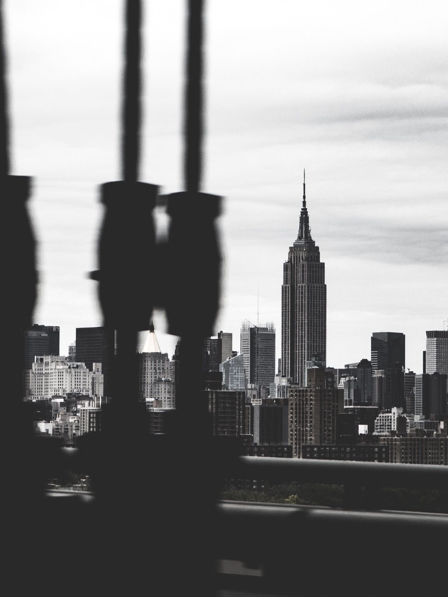 Empire State Building from Williamsburg Bridge NYC