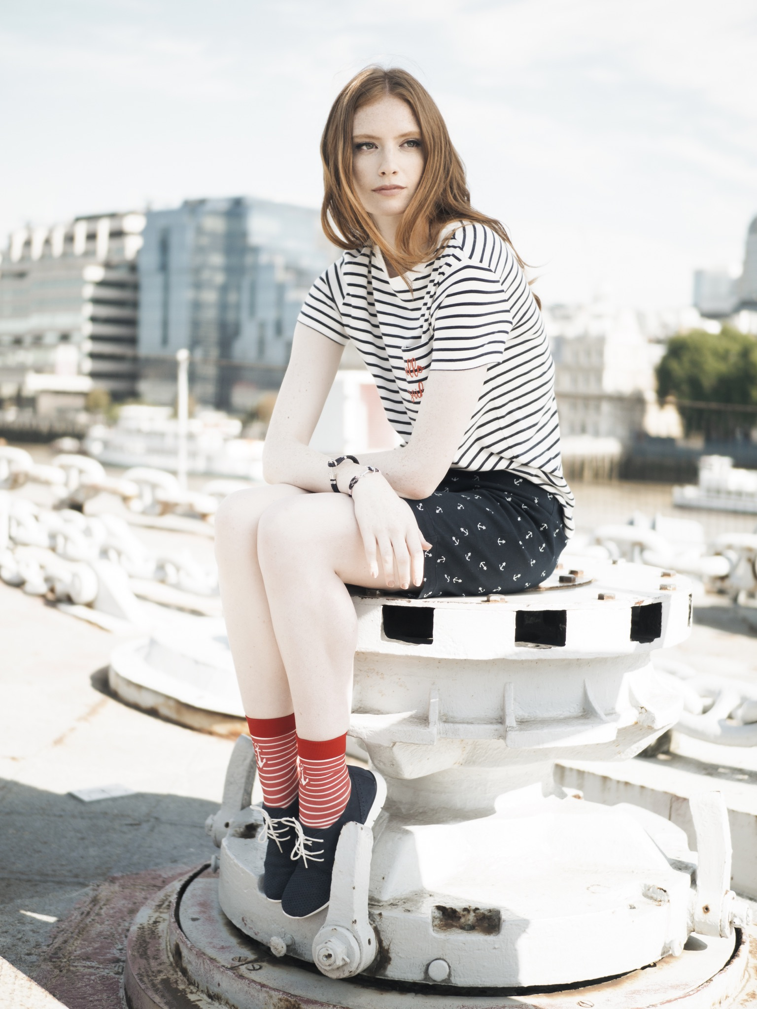 HMS Belfast Daily Express Fashion Editorial Saturday Magazine Redhead London