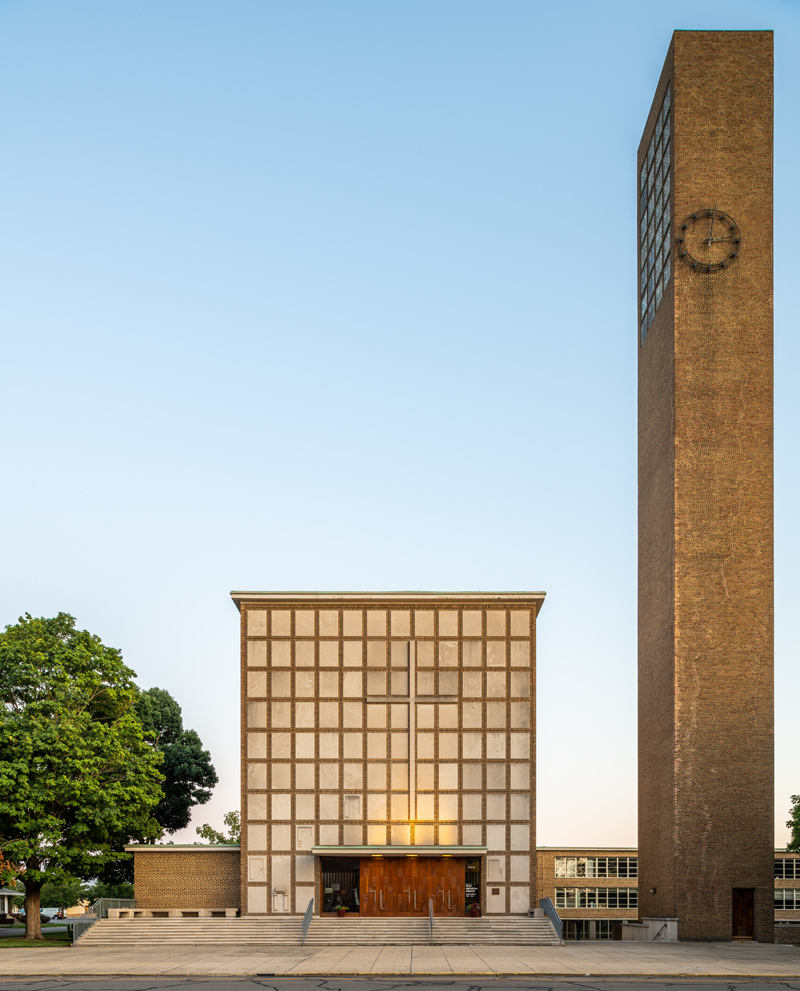 First Christian Church, Eliel Saarinen, 1942