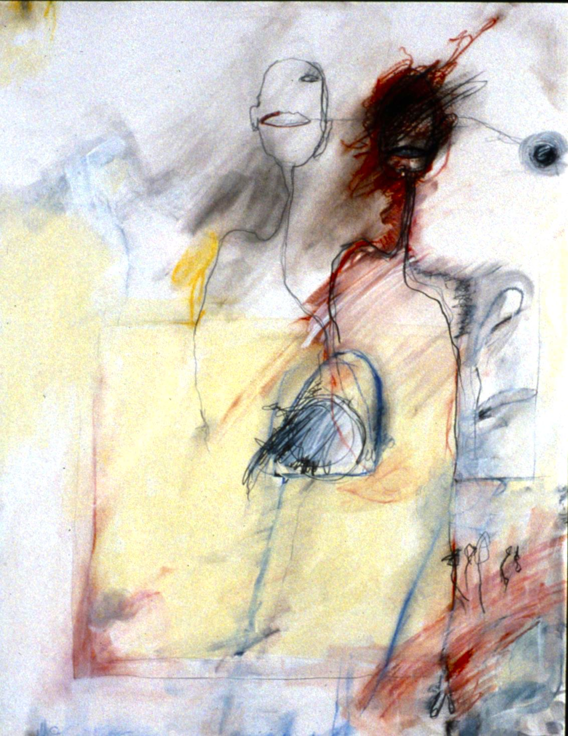1997 oil, graphite and pastel on paper 24 x 19 inches