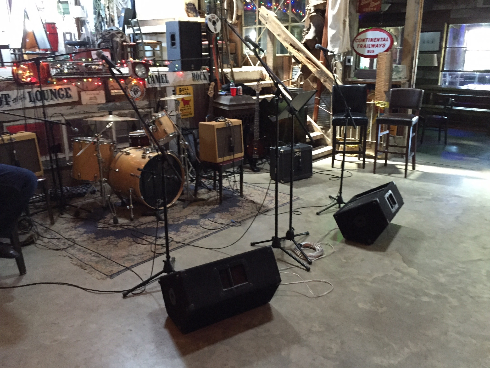 Recording day setup, Clarksdale MS