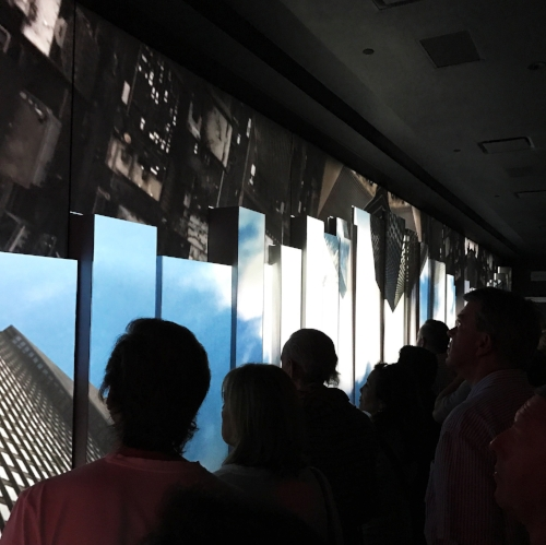 Video welcome upon arriving on the 102nd floor.