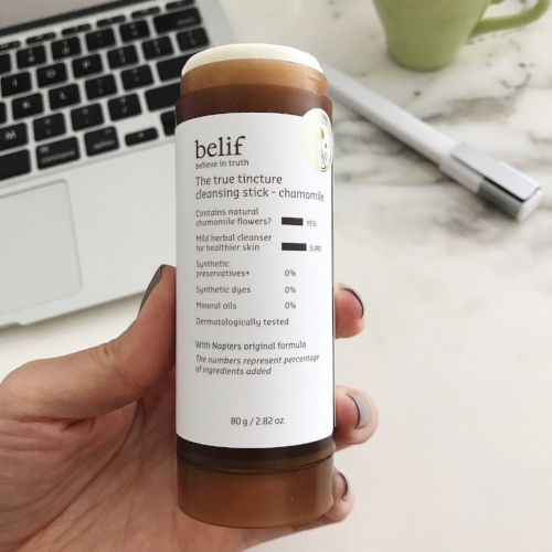 Up close with belif's Cleansing Stick.