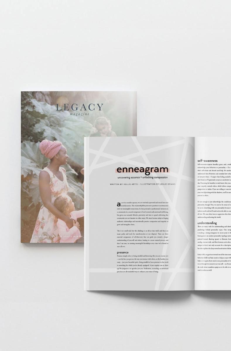 Legacy Magazine - Branding + editorial
