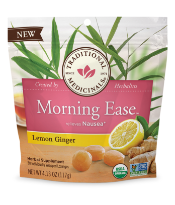 Traditional Medicinals Morning Ease Lozenges - with Lemon and Ginger