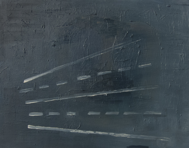 Tornado Warning, 2015, Sharon Butler, Oil on canvas, 16 x 20 in