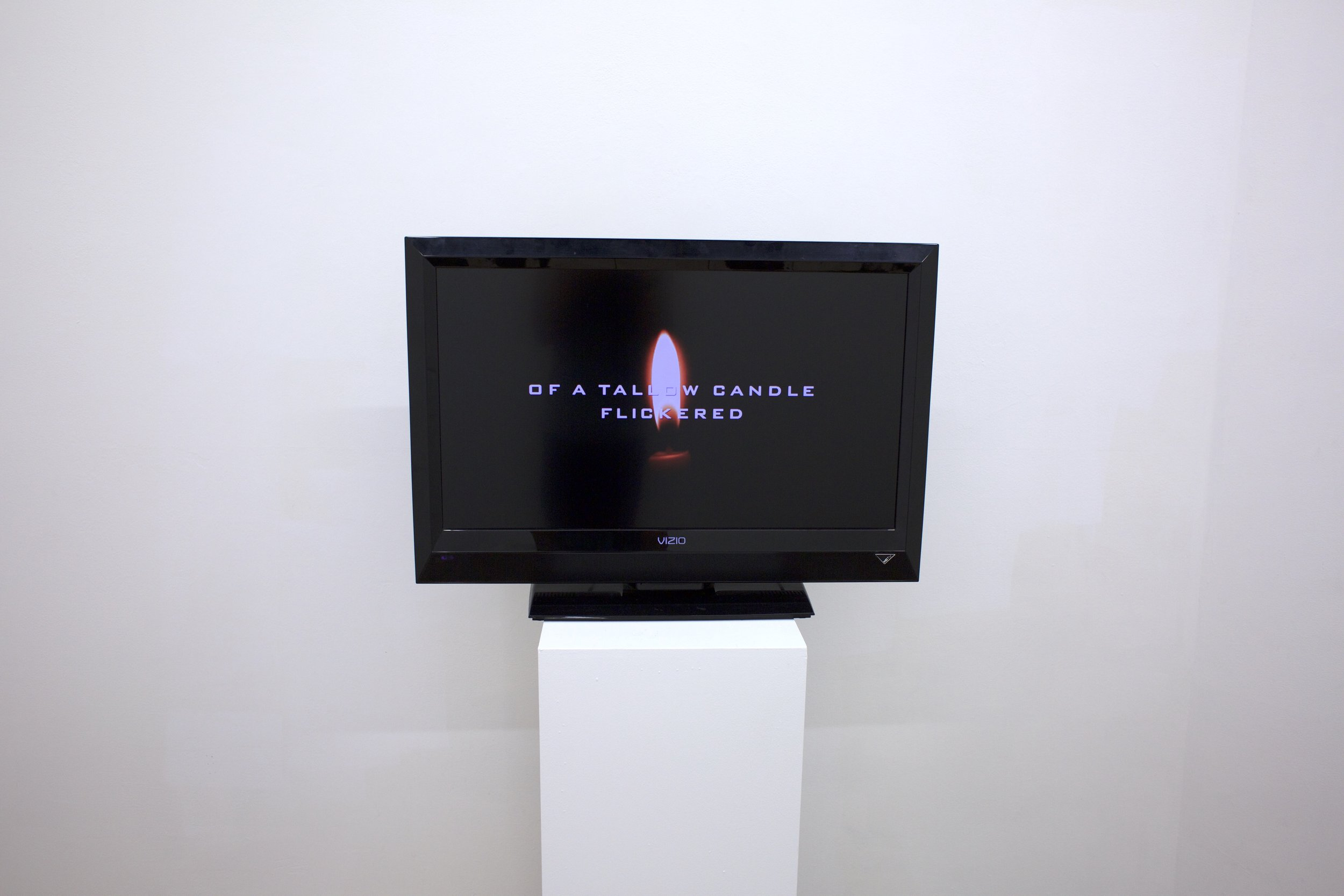 "One Way, 2016, Julia Madsen, Single Channel Video, Erased text from ""Machinery and the American Standard of Living"" (1939) and appropriated online content, Dimensions variable"