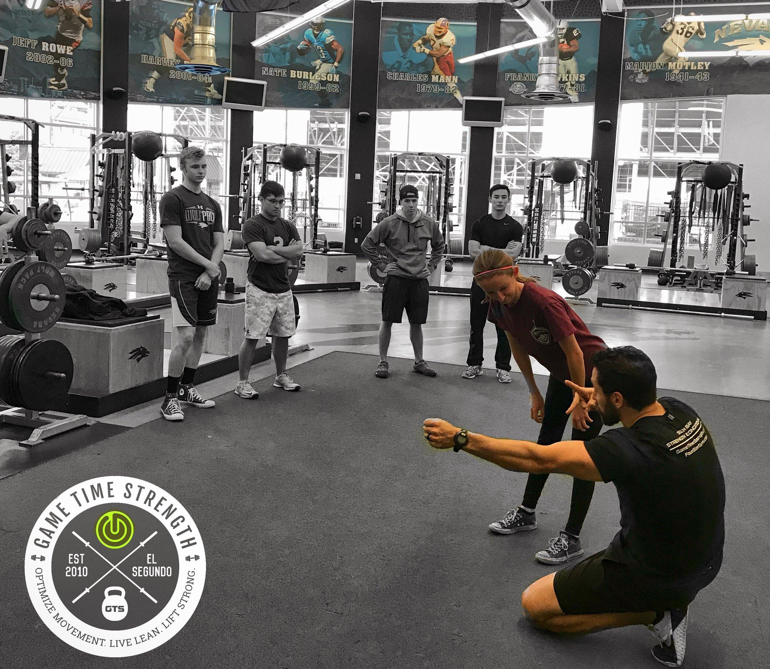 workshop - Barbell strength squat bench deadlift press row pull - El Segundo Game Time Strength Los Angeles Seminar Training.JPG