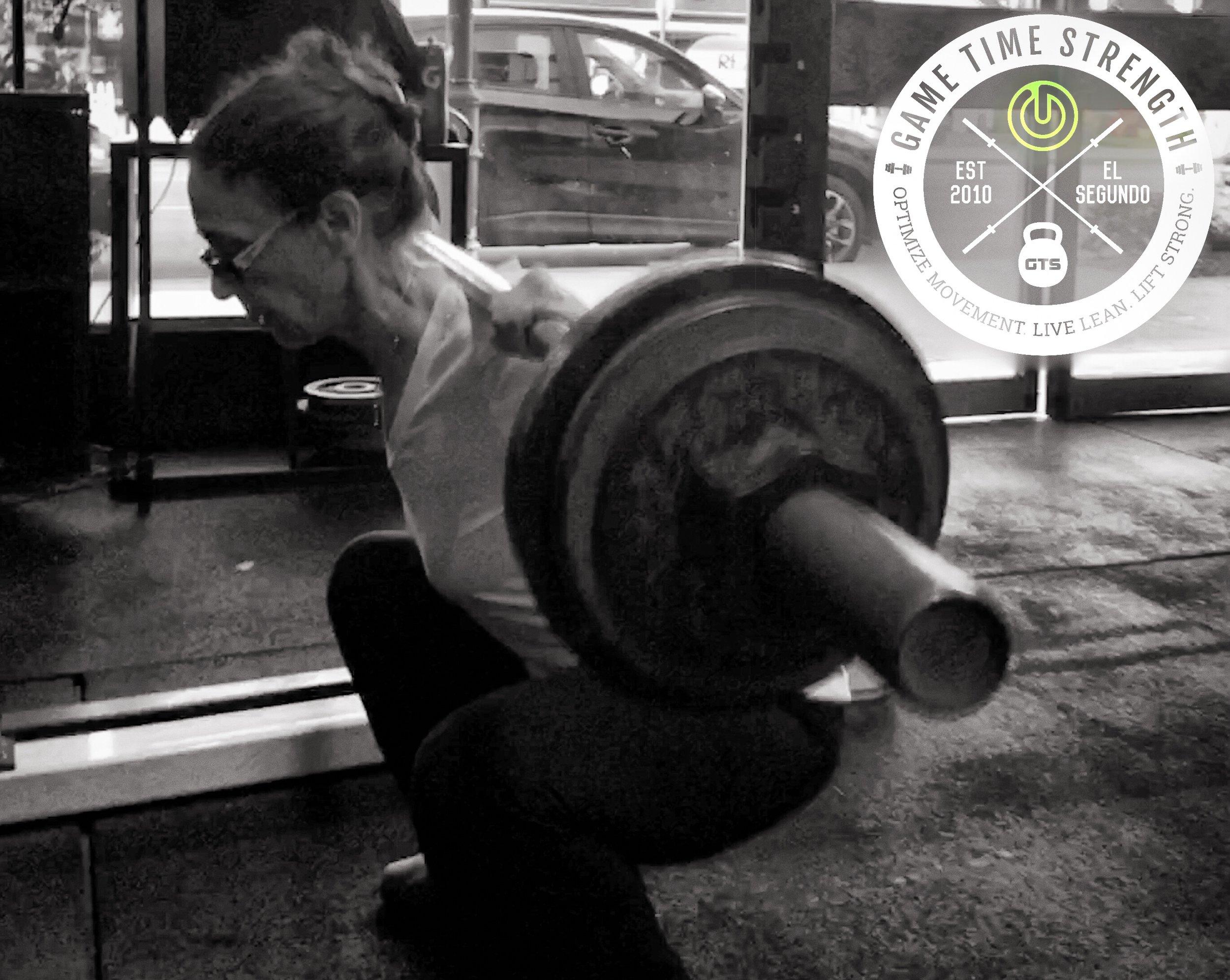 Zoya squats deeper than you...