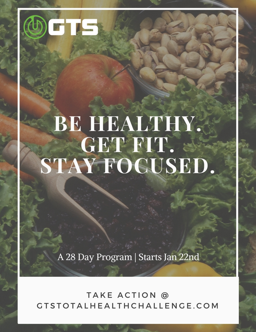GTS Total Health Challenge Flyer - Jan 2018 - Health nutrition fat loss lean training accountability el segundo los angeles