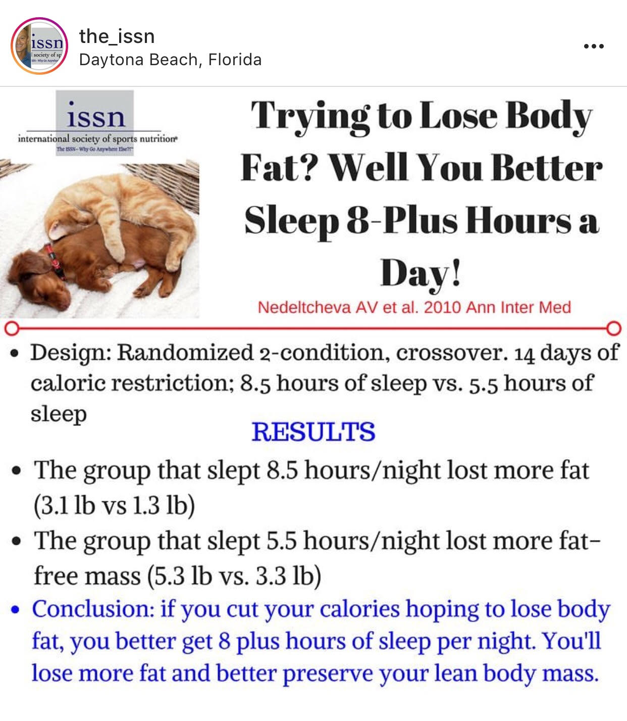 Great summary of a recent study on sleep as it relates to fat loss...