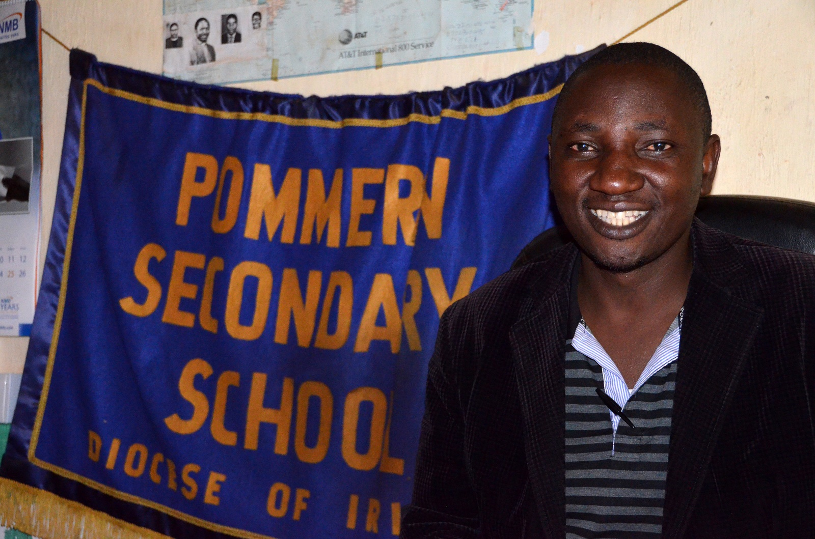 Mr. Shadrack Nyaulingo, Headmaster of the Pomerini Secondary School