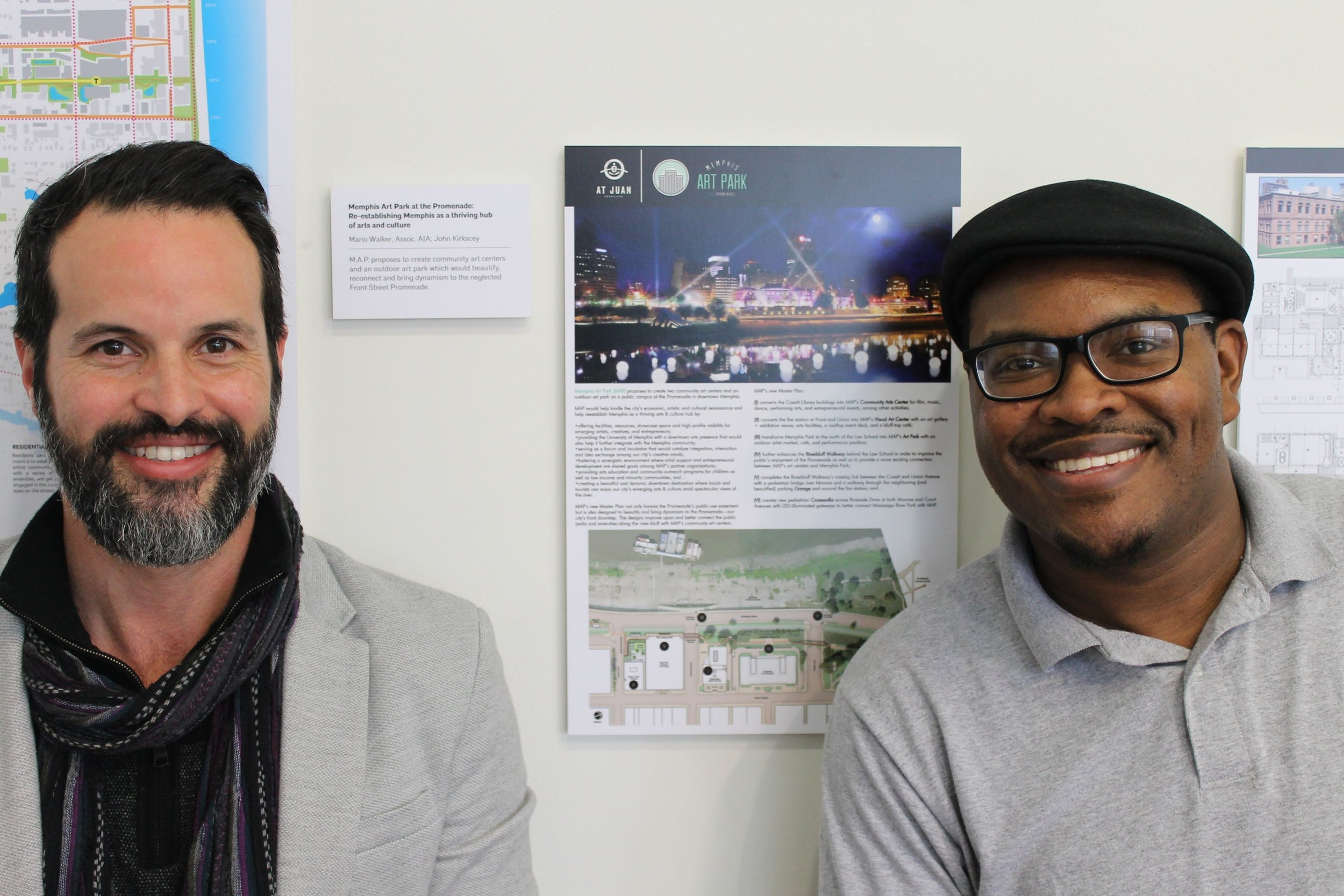 John Kirkscey, MAP's developer, and designer Mario Walker in Washington D.C. for AIA's 2017 Emerging Professionals Exhibit.
