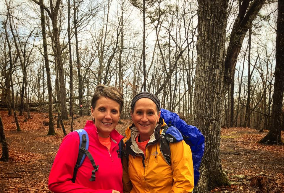 Woman backpacking