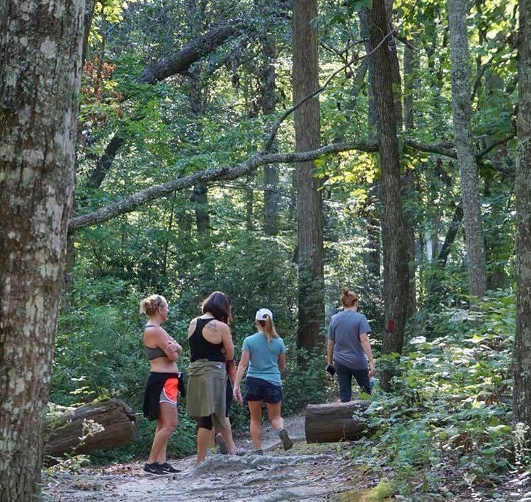 Woman Hiking Group