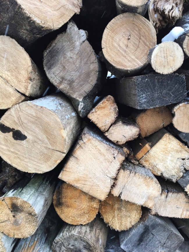 a stack of firewood to keep us warm & cozy