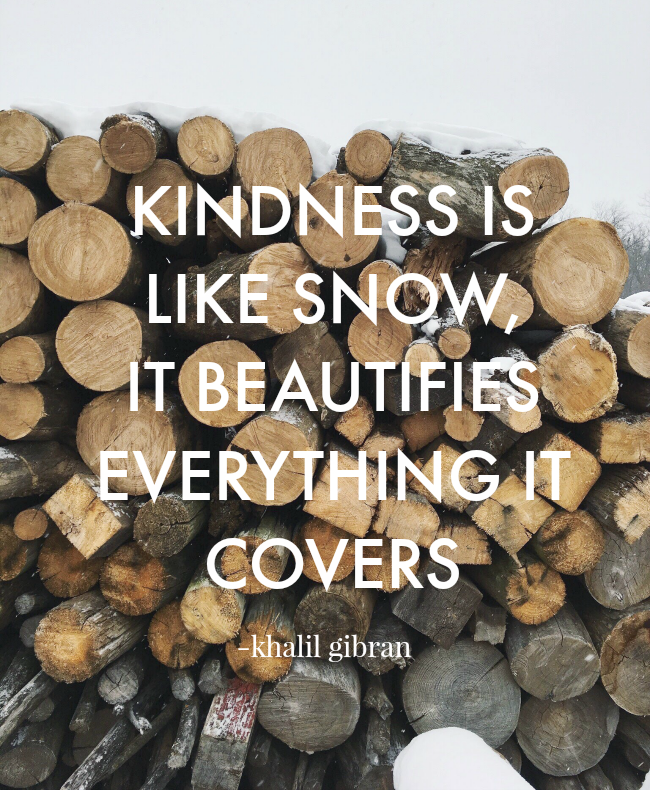 kindness is like snow