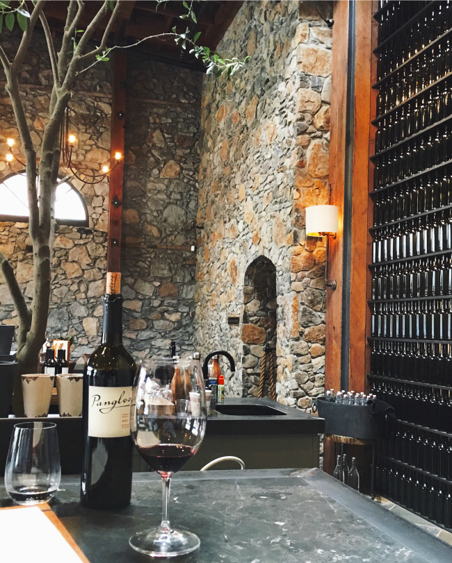 Pangloss Cellars was our favorite wine tasting spot