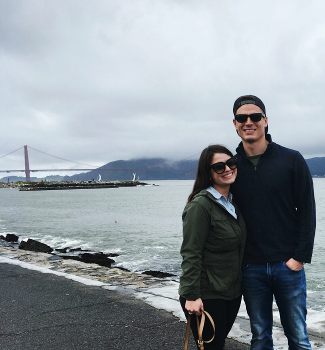 a foggy day by the marina