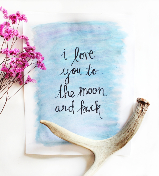 i love you to the moon & back // learning your love language