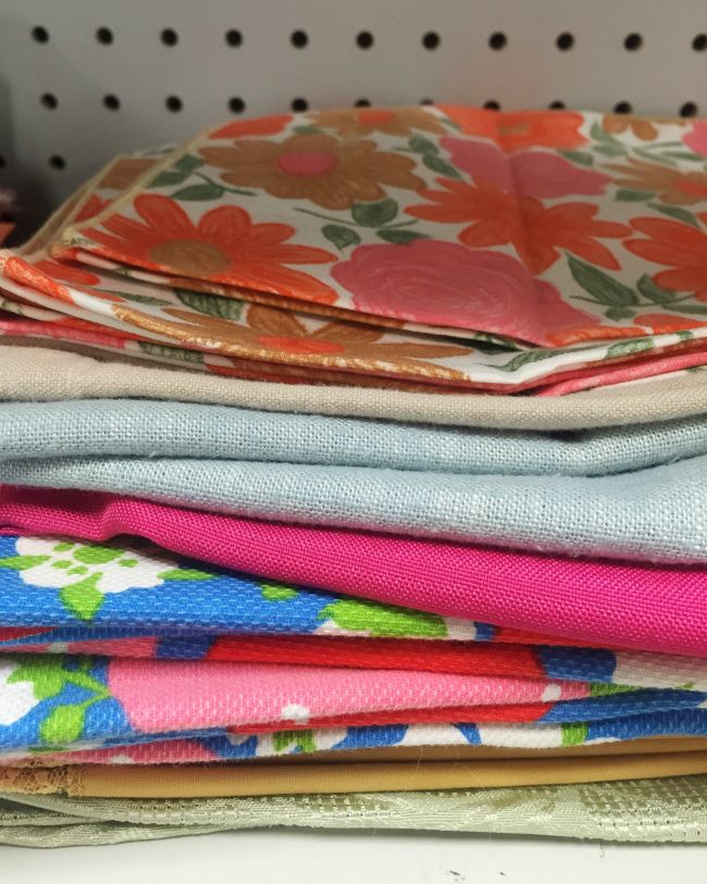 vintage napkins | thrift store treasures