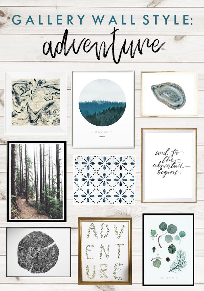 Gallery Wall Style: Adventure Art Prints