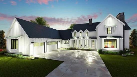 farmhouse house plans | architectural designs
