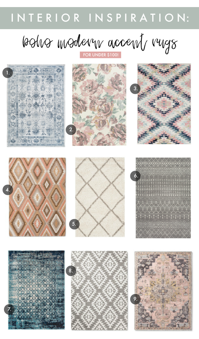Boho Modern Rugs Under 100 La Petite Farmhouse