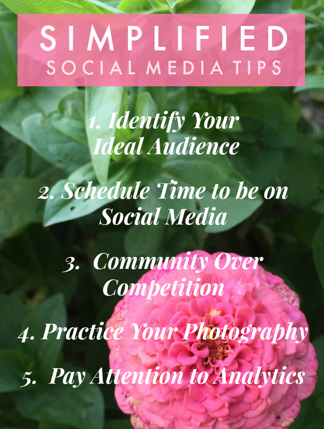 simplified social media tips for more mindful small business marketing | la petite farmhouse