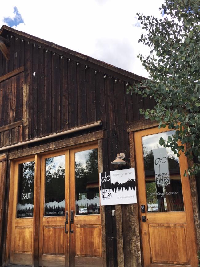 Dancing Pines Distillery tasting room in Breckenridge