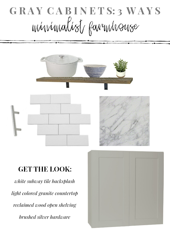 Gray Cabinets: 3 Ways | Minimalist Farmhouse