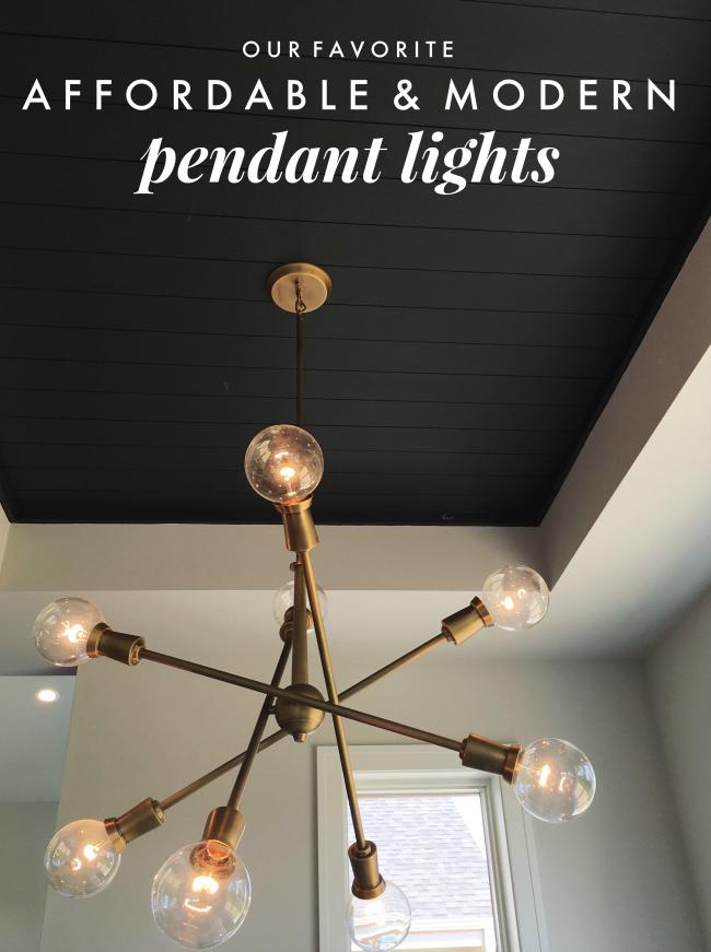 affordable pendant lights for modern farmhouses | la petite farmhouse