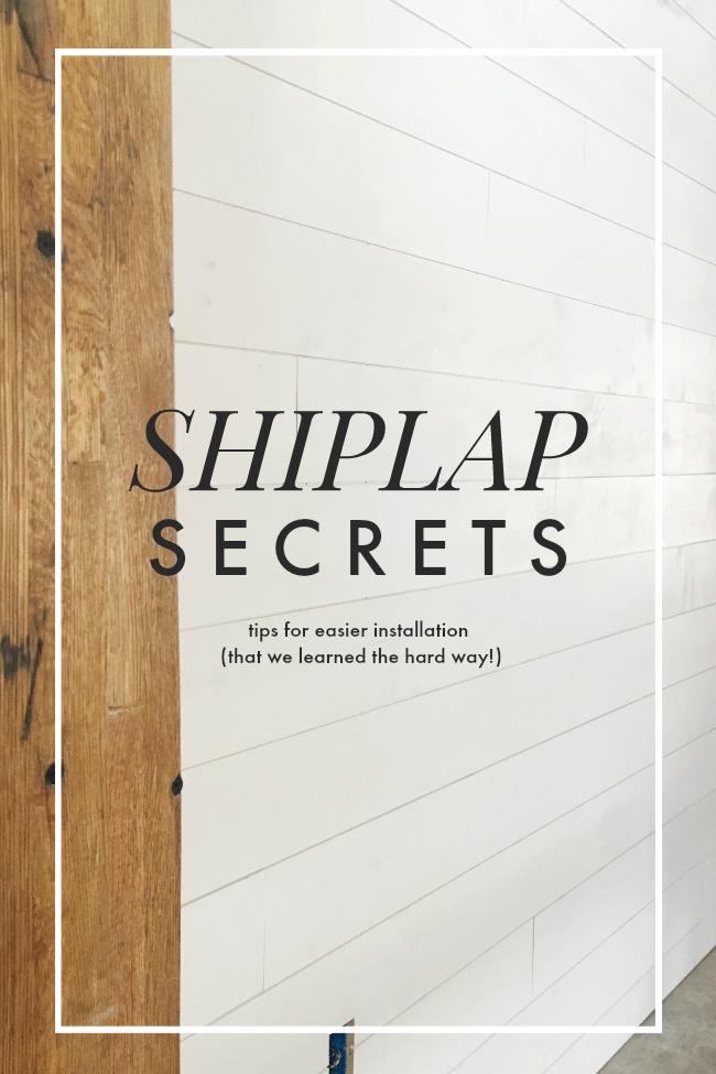 shiplap wall secrets for installing  | la petite farmhouse