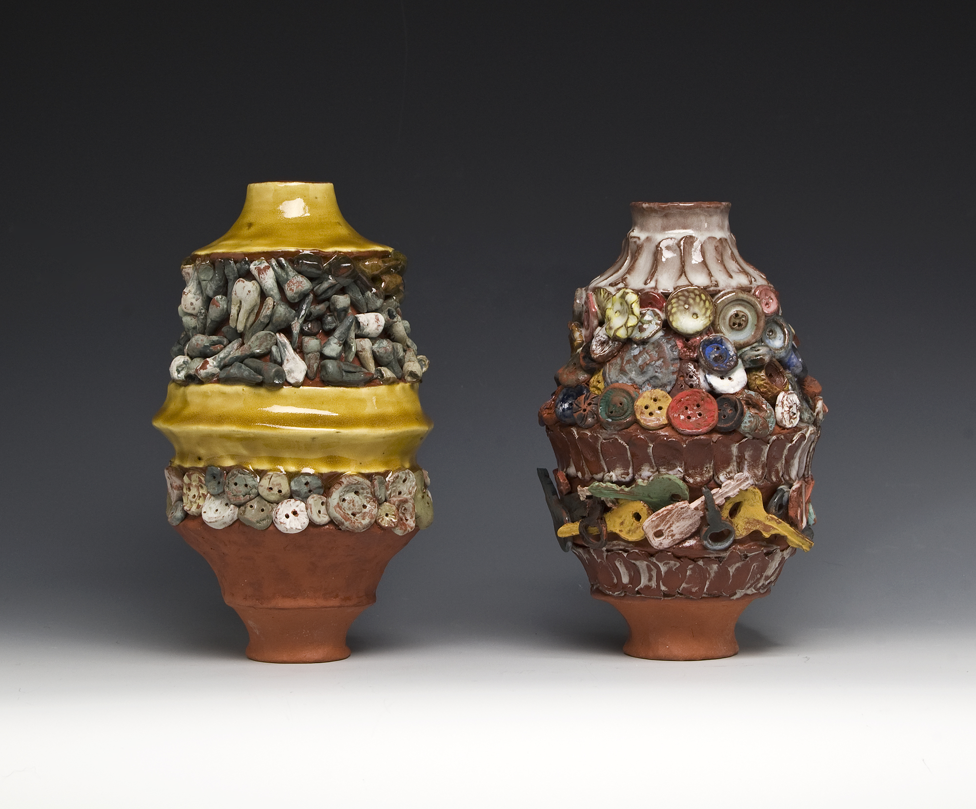 laurensandler1_Attached Absences, handbuilt earthenware with glaze.jpg