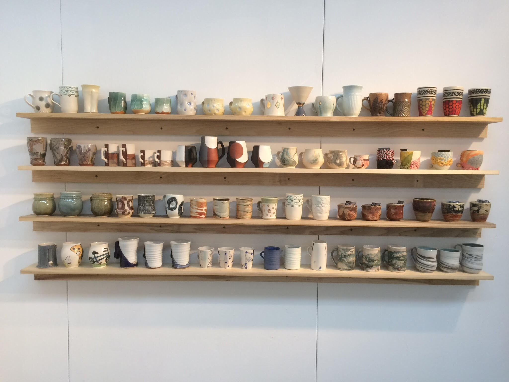 Clay Art Center Cup Wall