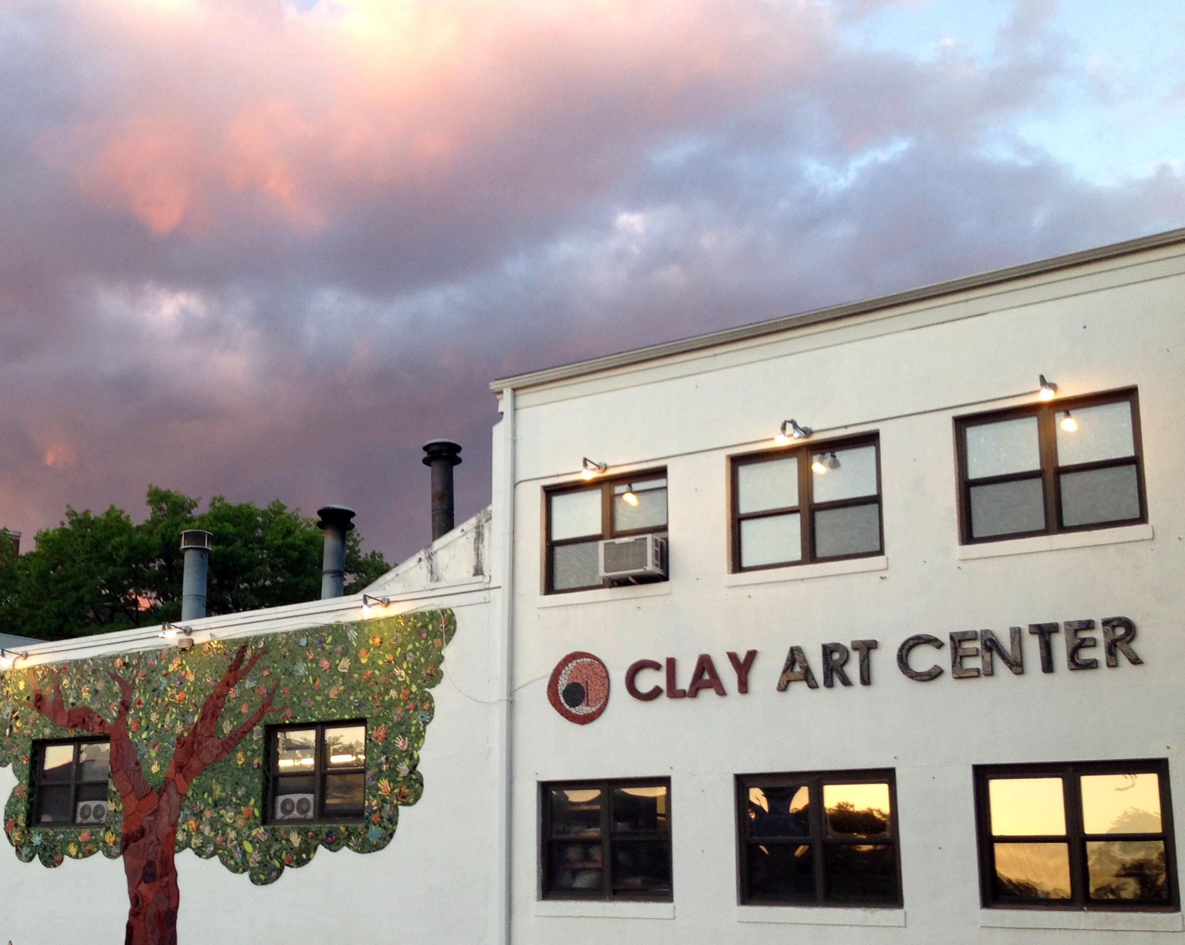 Clay Art Center Mural at Sunset