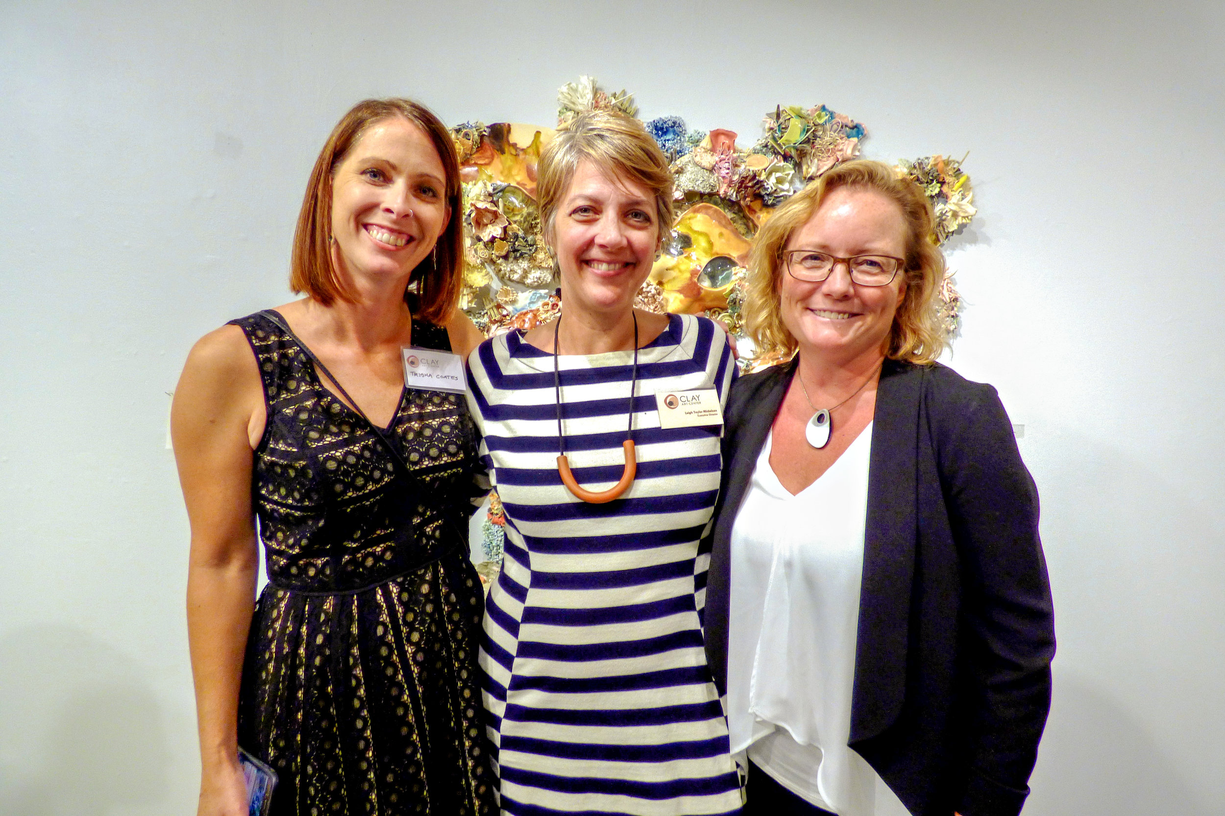 Clay Art Center Artist Trisha Coates, CAC Executive Director Leigh Taylor Mickelson, Artist Novie Trump.jpg