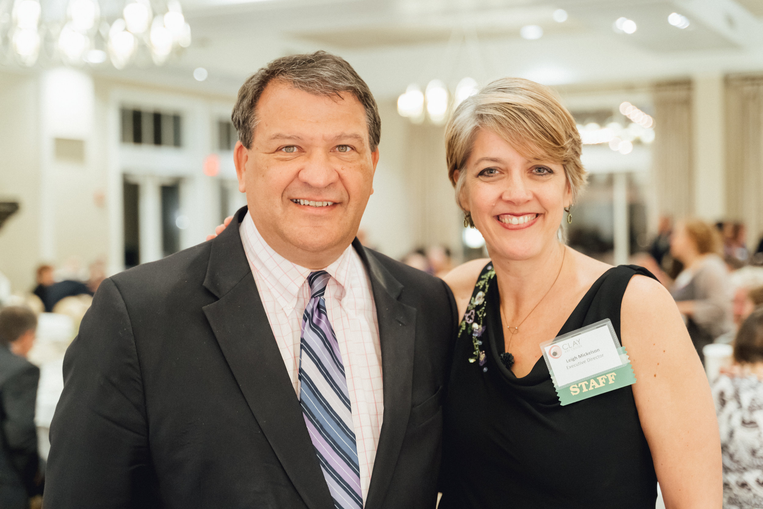 George Latimer, Westchester County Executive & Leigh Taylor Mickelson, CAC Executive Director