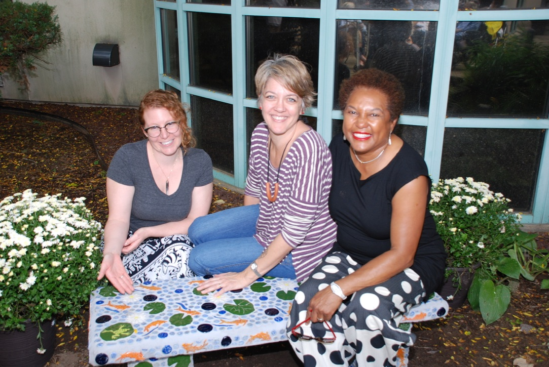 Clay Art Center Staff, Kelly O'sullivan (left), Leigh Taylor Michelson (center) and Earlene Cox (right)