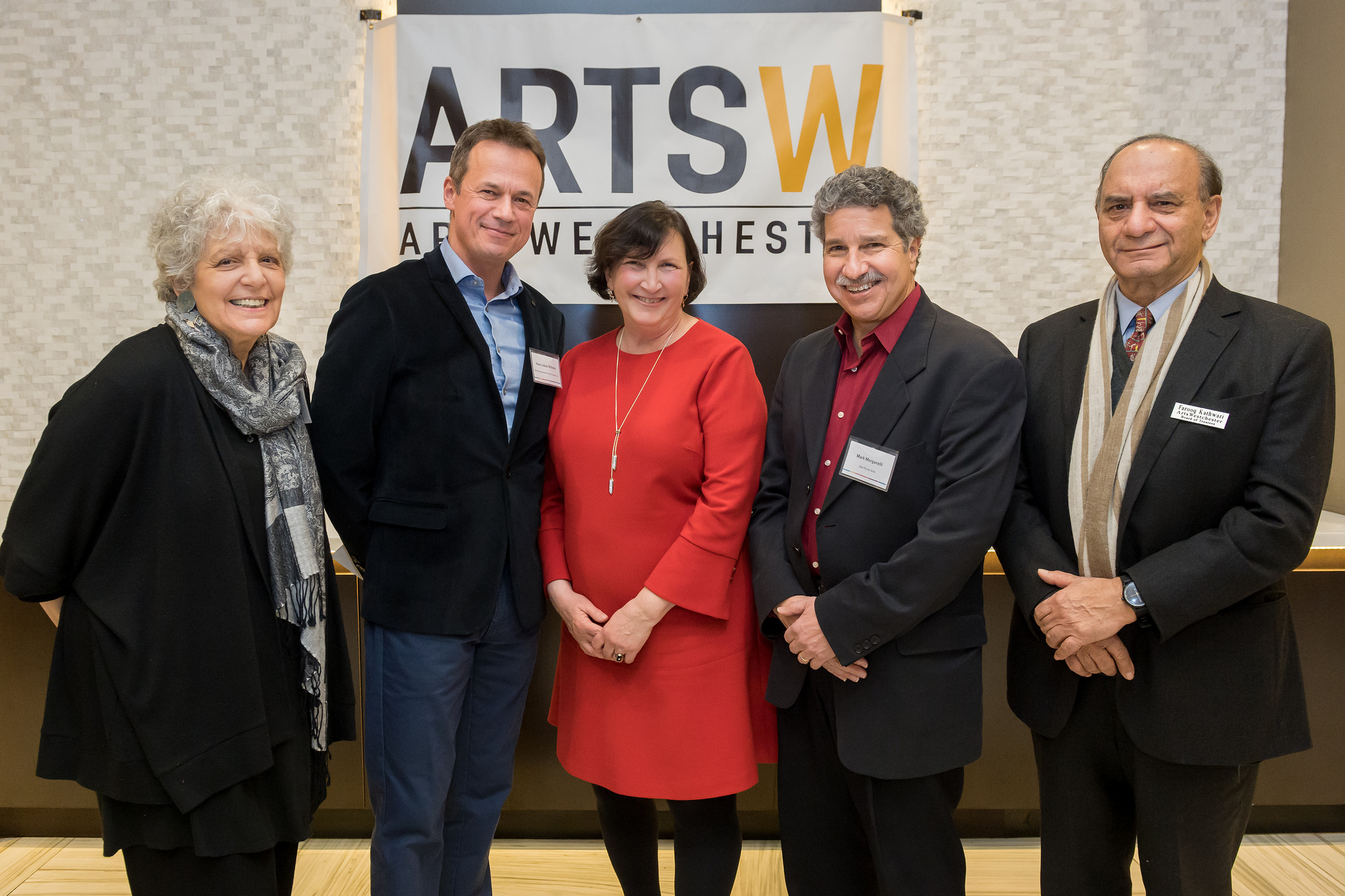 Judith Weber accepting our grant from ArtsWestchester. LtoR: Judith Weber, Hans-Jakob Wilhelm (Director, Ballet de Ameriques), Nancy Barr (Legislator for District 6), Farooq Kathwari (President, Ethan Allen & ArtsWestchester Board Member)
