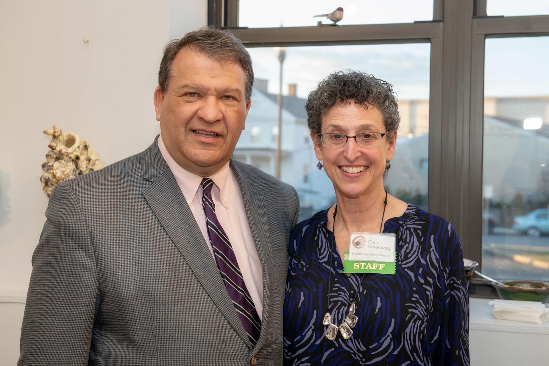George Latimer, Westchester County Executive & Cora Greenberg, Clay Art Center Interim Executive Director