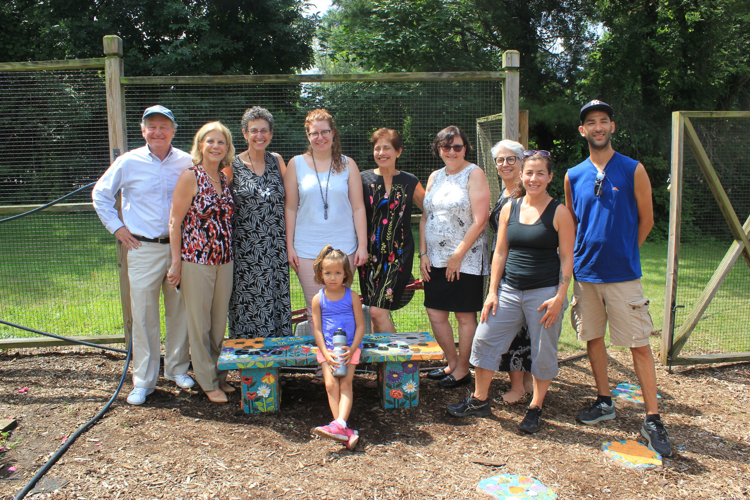 Port Chester Middle School Mosaic Bench Dedication