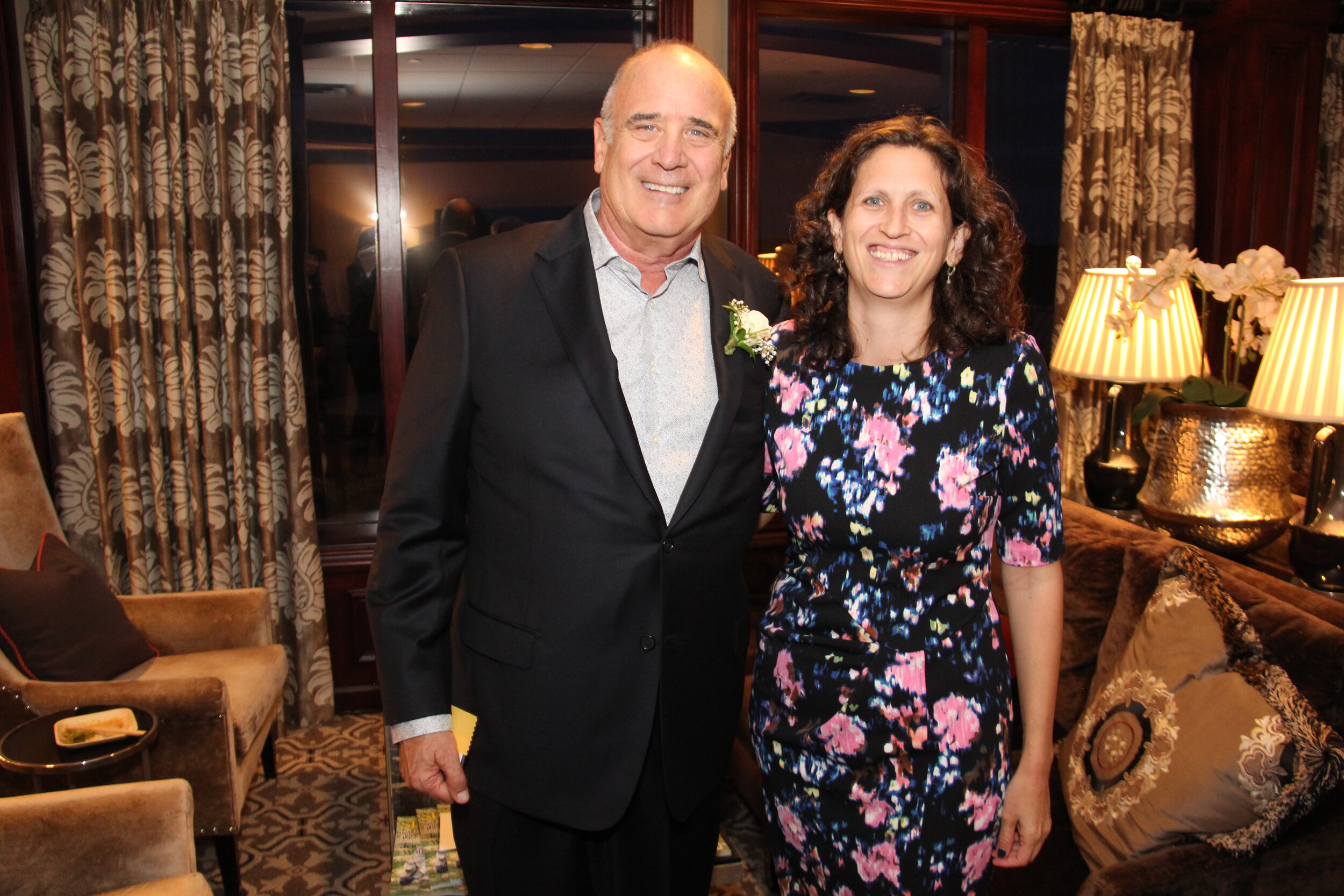 James Turnbull of Standard Ceramic Supply Company (honoree) & Emily Peck