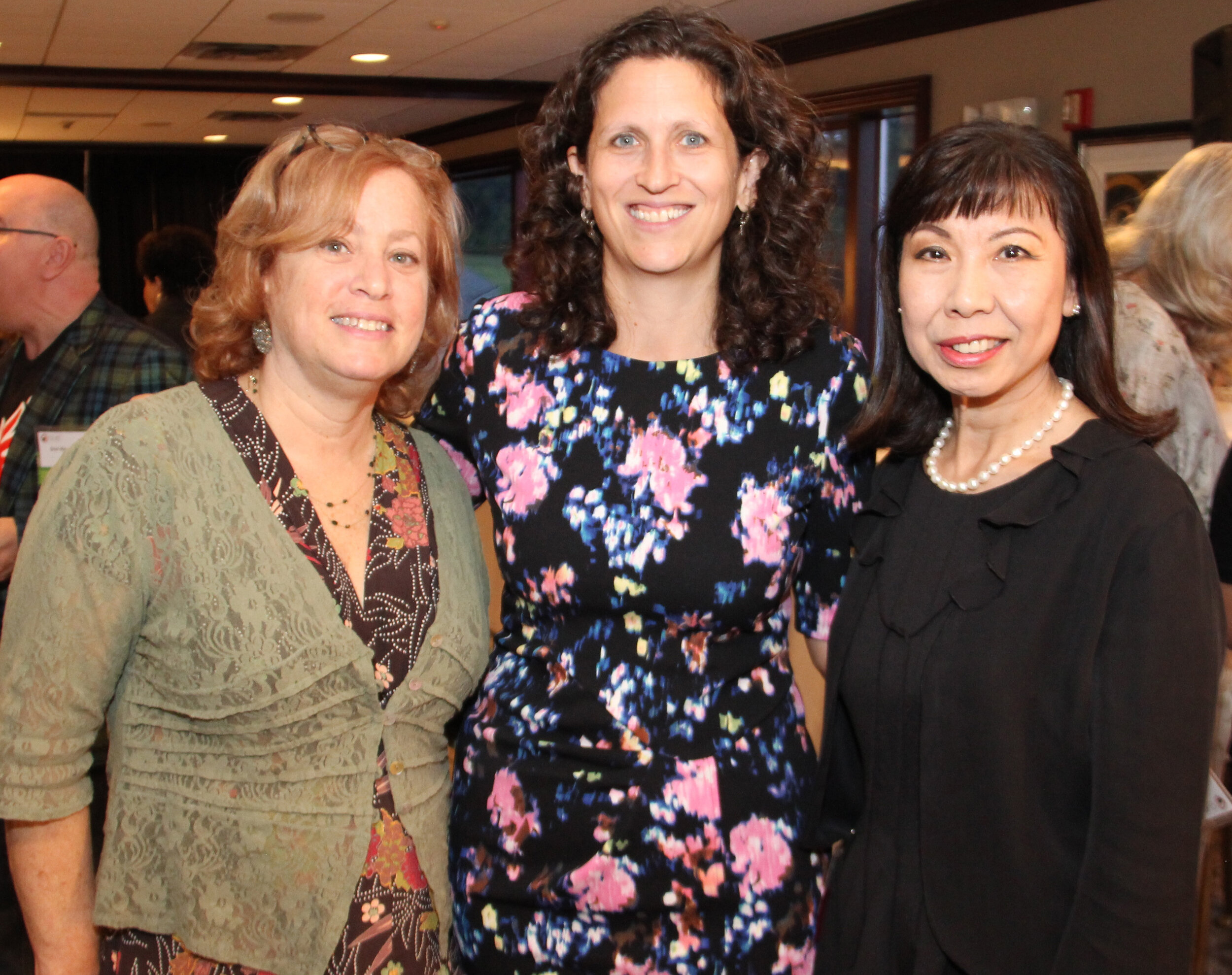 Carol Chevlowe, CAC Board President, Emily Peck, CAC Executive Director, Sally Ng, CAC Board Vice-President